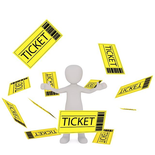 Scalper with tickets
