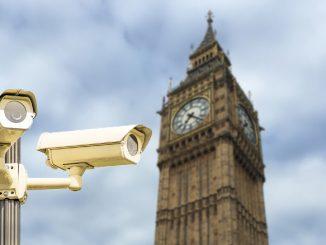Spy cameras in front of big ben