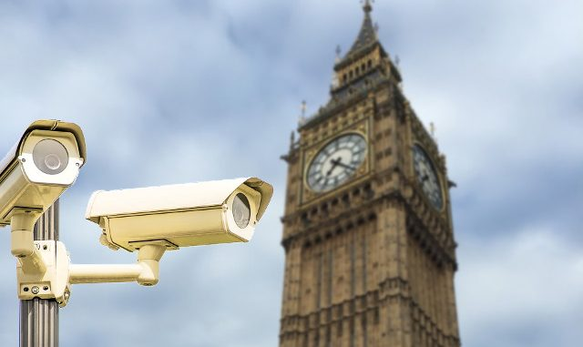 Spy cameras in front of big ben
