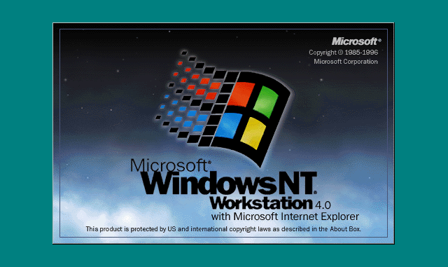 Windows NT 4 Workstation loading screen